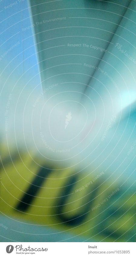 TUE blau grün Farbe kalt gelb Bewegung Design Tür modern Schilder & Markierungen ästhetisch Kreativität Geschwindigkeit Buchstaben