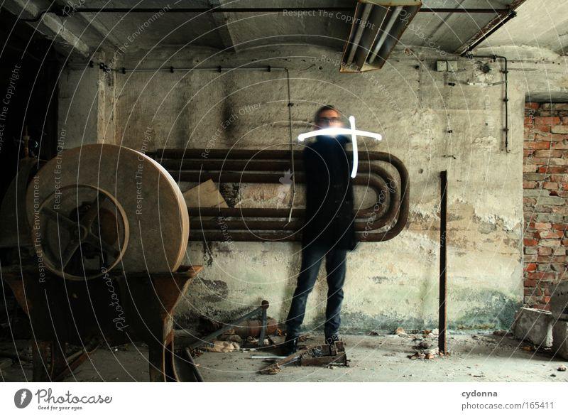 R.I.P. Mensch Mann Erwachsene Ferne Tod Leben Wand Gefühle Bewegung Mauer Traurigkeit Zeit Energiewirtschaft maskulin ästhetisch planen