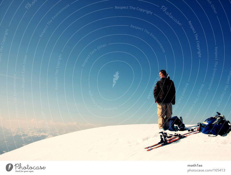 Retlstein Mensch Himmel Natur blau Jugendliche Winter Schnee Umwelt Sport Berge u. Gebirge Luft Gipfel maskulin groß Alpen Schönes Wetter