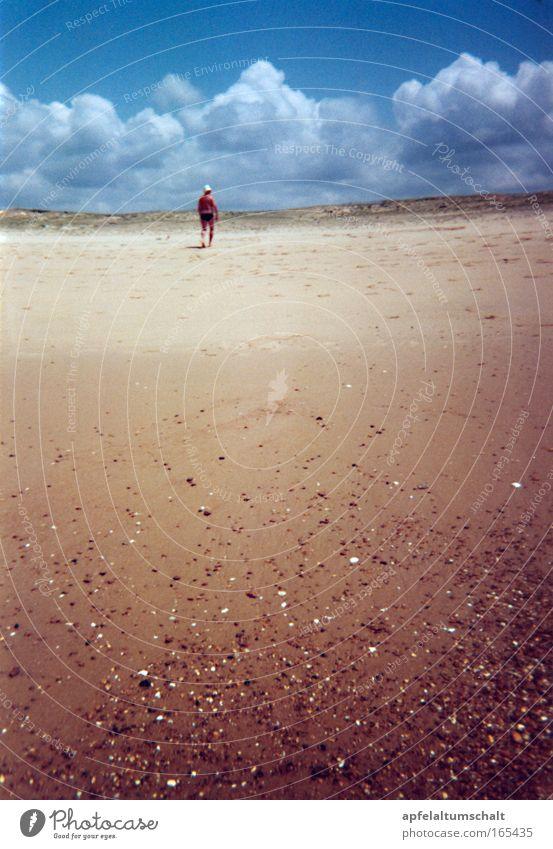 Tag am Meer II Mensch Mann Sonne Sommer Strand Ferien & Urlaub & Reisen ruhig Wolken Einsamkeit Ferne Erholung Freiheit träumen Denken Zufriedenheit