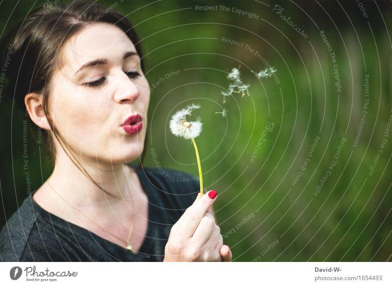 schweben Mensch Frau Natur Jugendliche schön Sommer Junge Frau Blume ruhig Mädchen Erwachsene Umwelt Leben Frühling feminin Glück
