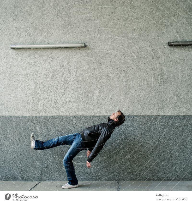 i go to work Mensch Mann Erwachsene Leben Wege & Pfade träumen Arbeit & Erwerbstätigkeit Zufriedenheit gehen schlafen Lifestyle trist Lebenslauf Beruf Gesellschaft (Soziologie) Langeweile