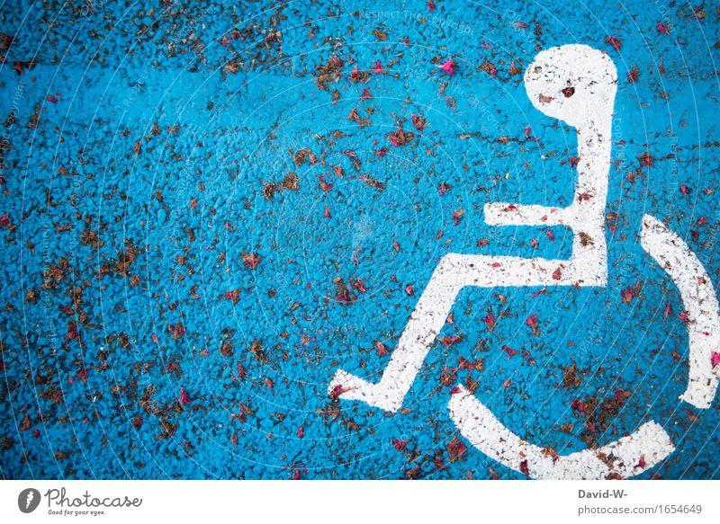 Körperlich eingeschränkte Person Mensch Frau Mann blau Erwachsene Leben Traurigkeit Senior feminin Gesundheit Gesundheitswesen maskulin Armut Zeichen Krankheit
