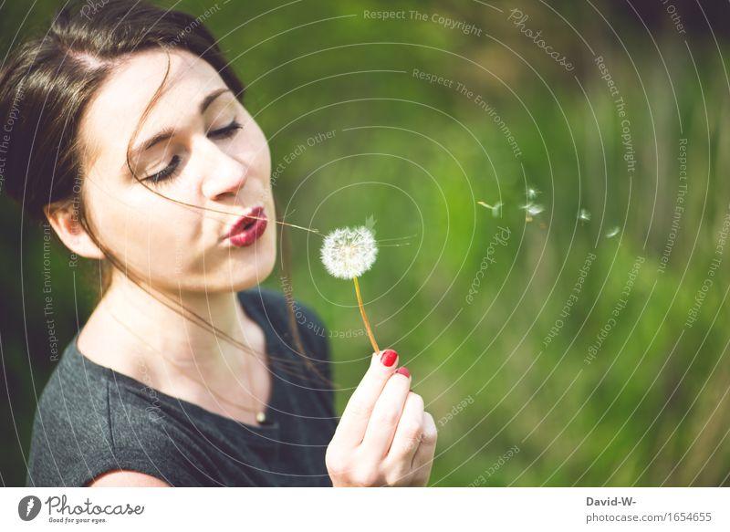 ein schöner Tag Mensch Frau Natur Ferien & Urlaub & Reisen Jugendliche Sommer Junge Frau ruhig Erwachsene Umwelt Leben feminin fliegen Zufriedenheit Kindheit