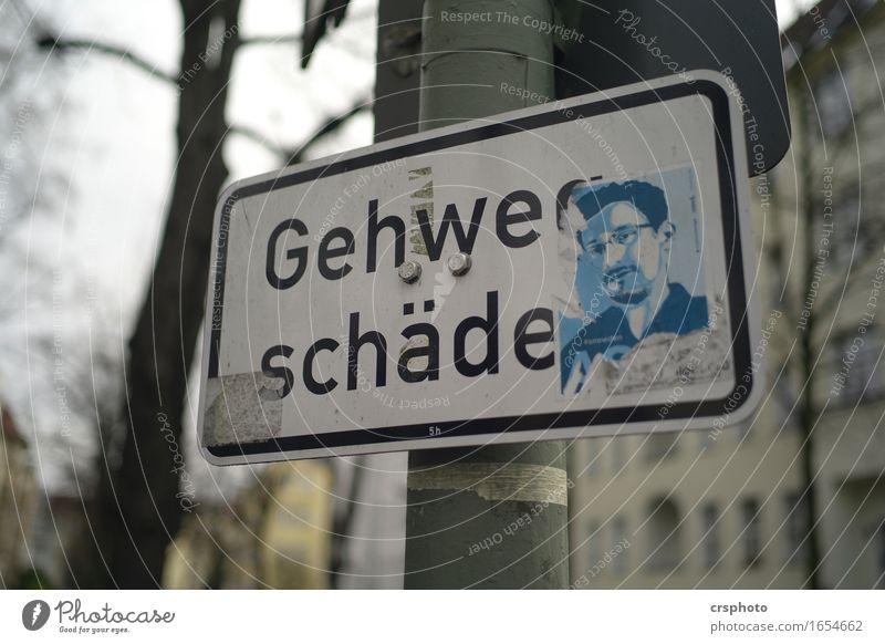 Hartes Schicksal Mensch maskulin Kopf Schilder & Markierungen Hinweisschild Warnschild Verkehrszeichen weiß Tugend Gerechtigkeit Snowden Edward Snowden Symbol