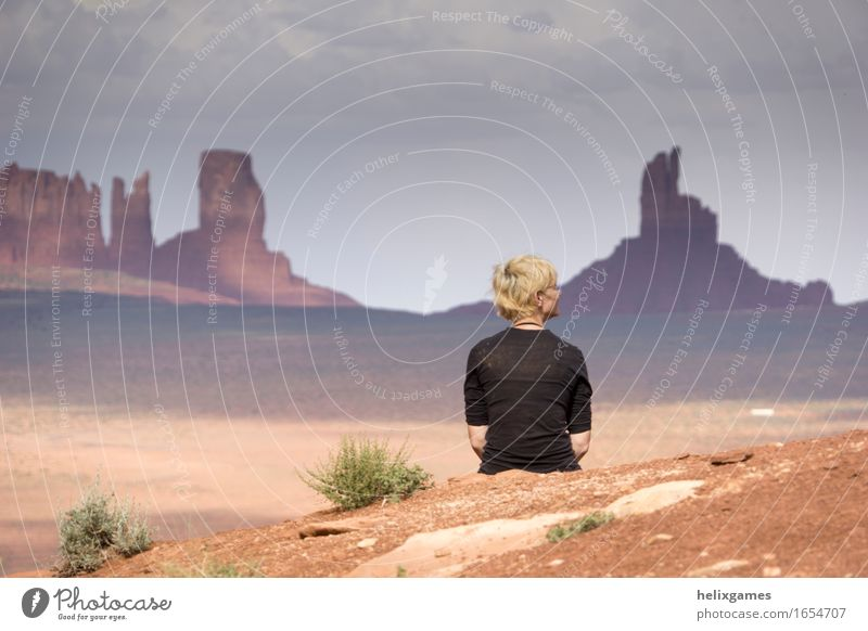Wüstenblick Ferien & Urlaub & Reisen Tourismus Ausflug Abenteuer Ferne Freiheit Sightseeing Camping Junge Frau Jugendliche 1 Mensch 18-30 Jahre Erwachsene