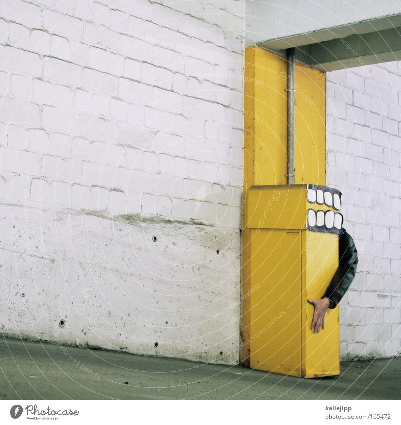 g-punkt Mensch Hand lachen Kunst Arme verrückt außergewöhnlich Zähne Kreativität Lächeln grinsen Comic Griff Zahnarzt Parkhaus Versteck