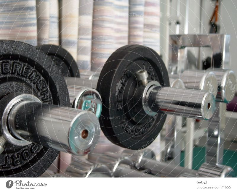 Hanteln Sport Metall Kraft Energiewirtschaft Gewicht schwer Hantel Gewichtheben