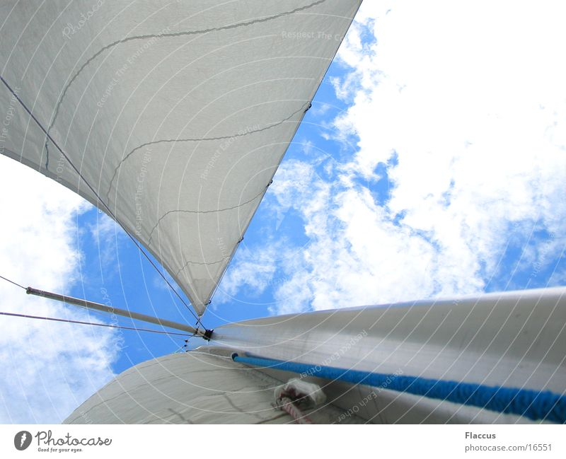 Hart_am_Wind_2 Himmel Wolken Sport See Wind Segeln Segel
