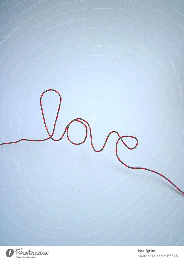 Es gibt nichts besseres... weiß grün rot Liebe Gefühle Glück Hoffnung Schriftzeichen Lust Draht gestreift Frühlingsgefühle