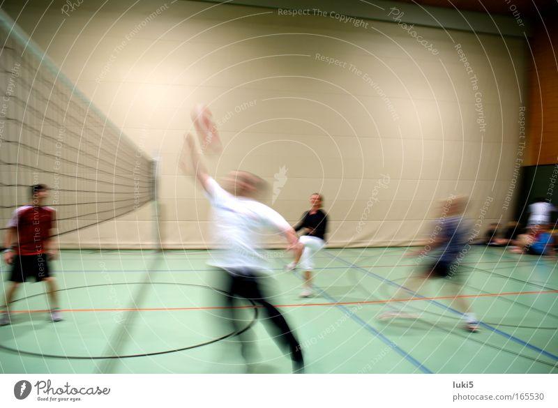 movin' Mensch weiß Freude Sport Spielen Freiheit Bewegung springen Menschengruppe Kraft Freizeit & Hobby Geschwindigkeit außergewöhnlich Bewegungsunschärfe sportlich Überraschung