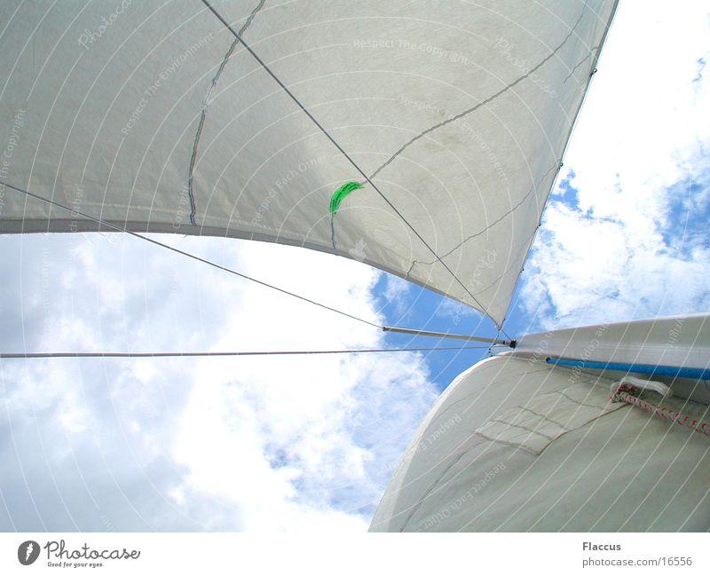 Hart_am_Wind Himmel Wolken Sport See Segeln
