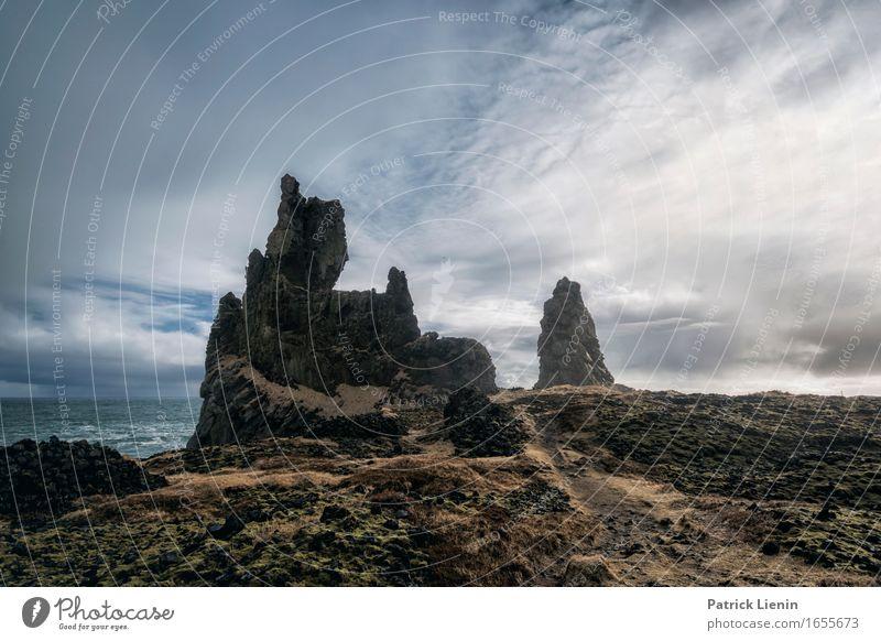Borgarnes Himmel Natur Ferien & Urlaub & Reisen Farbe schön Meer Landschaft Wolken Tier Strand Berge u. Gebirge Umwelt Leben Küste Erde Felsen