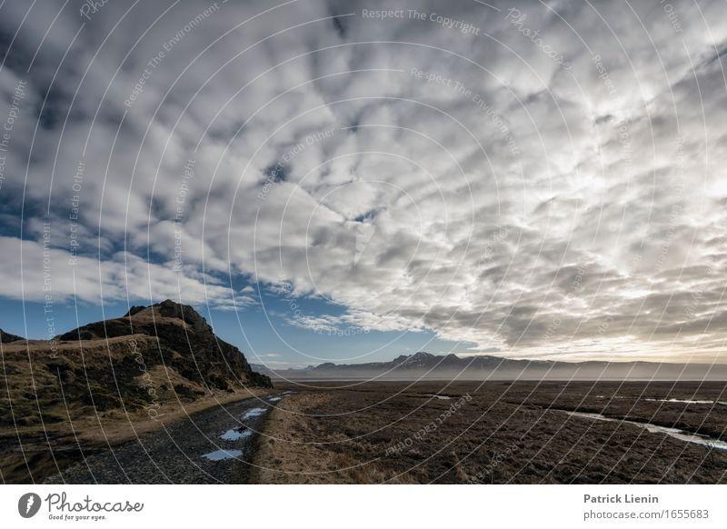 Morning at Reynisfjara Beach Leben Ferien & Urlaub & Reisen Abenteuer Strand Meer Insel Umwelt Natur Landschaft Urelemente Erde Luft Himmel Wolken Horizont