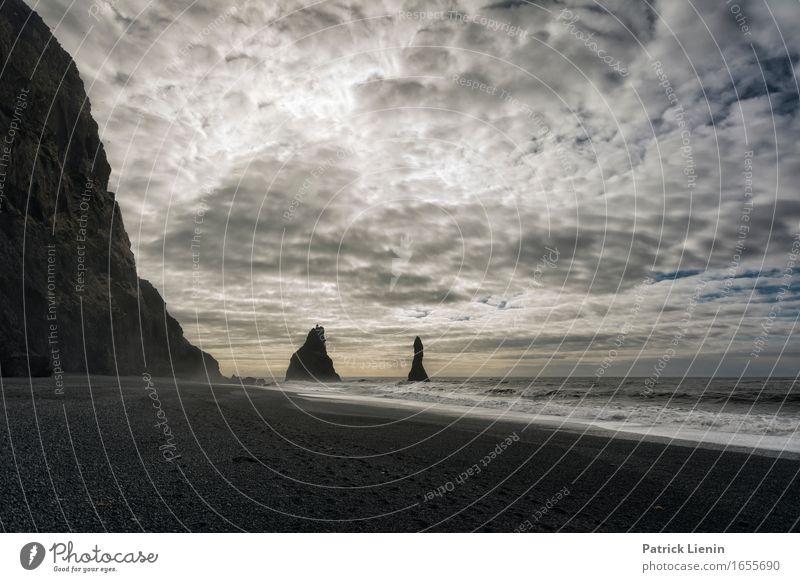 Dream Beach schön Leben Ferien & Urlaub & Reisen Abenteuer Strand Meer Insel Wellen Umwelt Natur Landschaft Erde Himmel Wolken Sonne Winter Klima Klimawandel