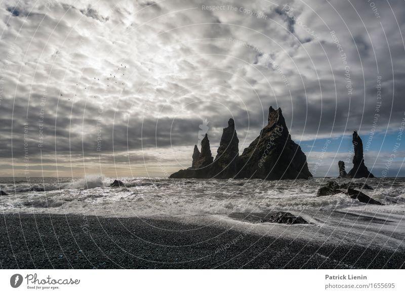 Wellenbad schön Leben Ferien & Urlaub & Reisen Abenteuer Strand Meer Insel Umwelt Natur Landschaft Urelemente Erde Himmel Wolken Klima Klimawandel Wetter Felsen