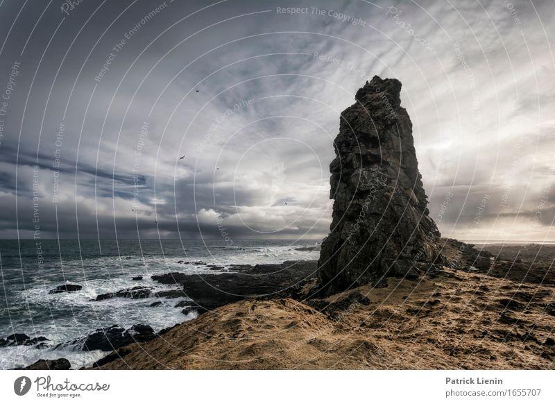 Himmel Natur Ferien & Urlaub & Reisen schön Sonne Meer Erholung Landschaft Wolken ruhig Strand Umwelt Leben Küste Erde Felsen