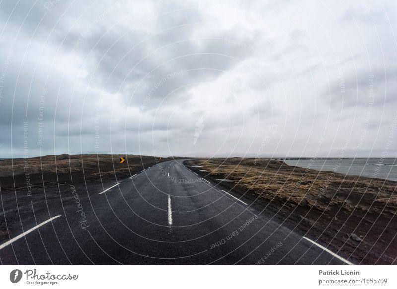 Immer weiter Leben Ferien & Urlaub & Reisen Abenteuer Insel Umwelt Natur Landschaft Erde Himmel Wolken Horizont Frühling Winter Klima Klimawandel Wetter