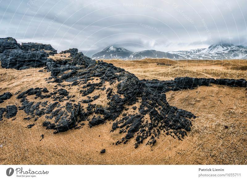 Feuer und Eis Leben Ferien & Urlaub & Reisen Abenteuer Strand Meer Insel Winter Schnee Berge u. Gebirge Umwelt Natur Landschaft Erde Himmel Wolken Klima