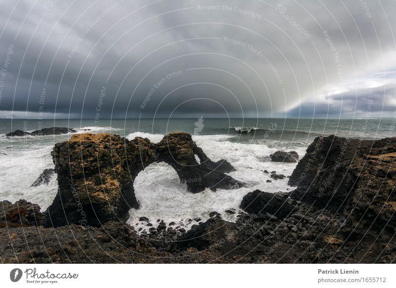 Landungsbrücke schön Leben Ferien & Urlaub & Reisen Abenteuer Strand Insel Wellen Umwelt Natur Landschaft Tier Erde Himmel Wolken Klima Wetter schlechtes Wetter