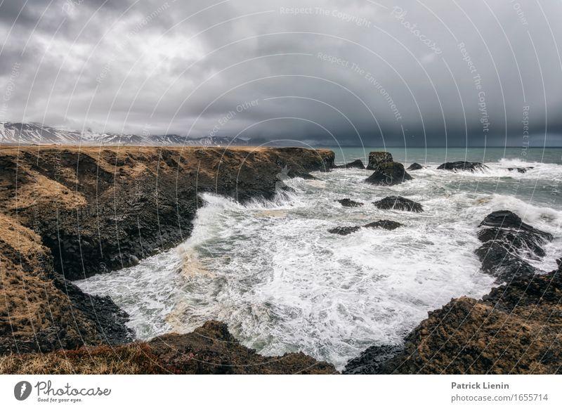Goodbye Blue Sky schön Leben Ferien & Urlaub & Reisen Abenteuer Strand Meer Insel Wellen Umwelt Natur Landschaft Himmel Wolken Klima Klimawandel Wetter