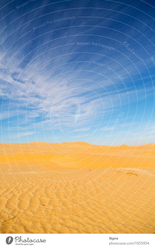 Oman alte Wüste reiben Al Khali Himmel Natur Ferien & Urlaub & Reisen schön Sommer weiß Sonne Landschaft Einsamkeit schwarz gelb grau Sand Horizont Tourismus
