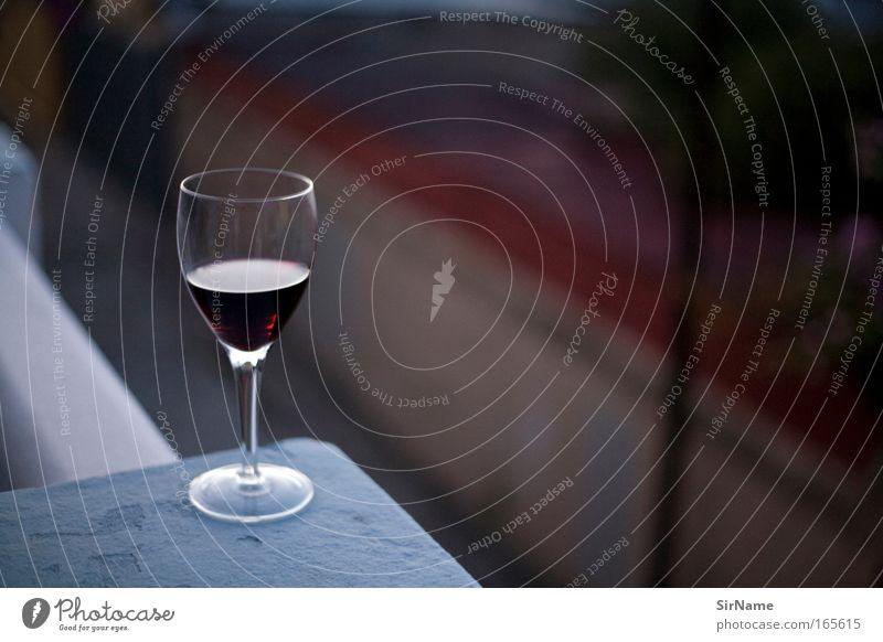 100 [cold red] Ernährung Getränk Alkohol Wein Glas Stil harmonisch Wohlgefühl Bar Cocktailbar Feste & Feiern Gastronomie Feierabend Mauer Wand Balkon Erholung