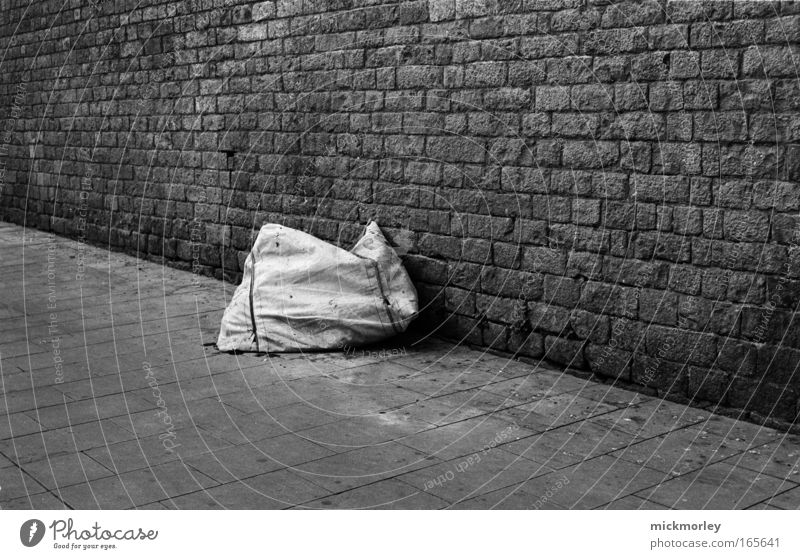 Der Sack Einsamkeit Traurigkeit ästhetisch einzigartig Neugier bequem Mittelpunkt Altstadt