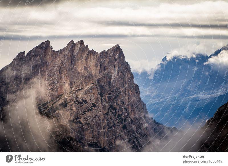 Massive Kulisse Ferien & Urlaub & Reisen Tourismus Ausflug Abenteuer Ferne Berge u. Gebirge wandern Umwelt Natur Landschaft Pflanze Tier Urelemente Sommer Hügel