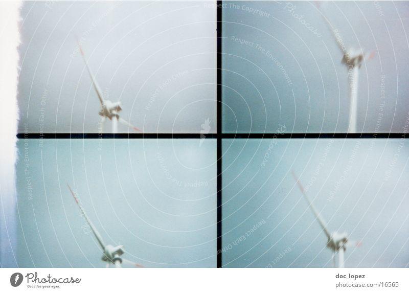 lomo_poetry_2 Himmel Landschaft Windkraftanlage analog Teilung Scan Lomografie
