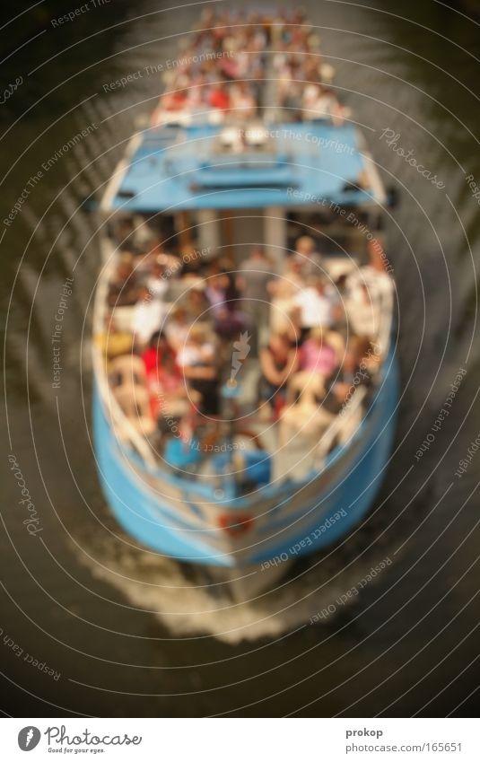 Böse Gedanken kriegen Mensch Mann Wasser Ferien & Urlaub & Reisen Sommer Erwachsene Wasserfahrzeug lachen Menschengruppe Zusammensein sitzen Tourismus Ausflug