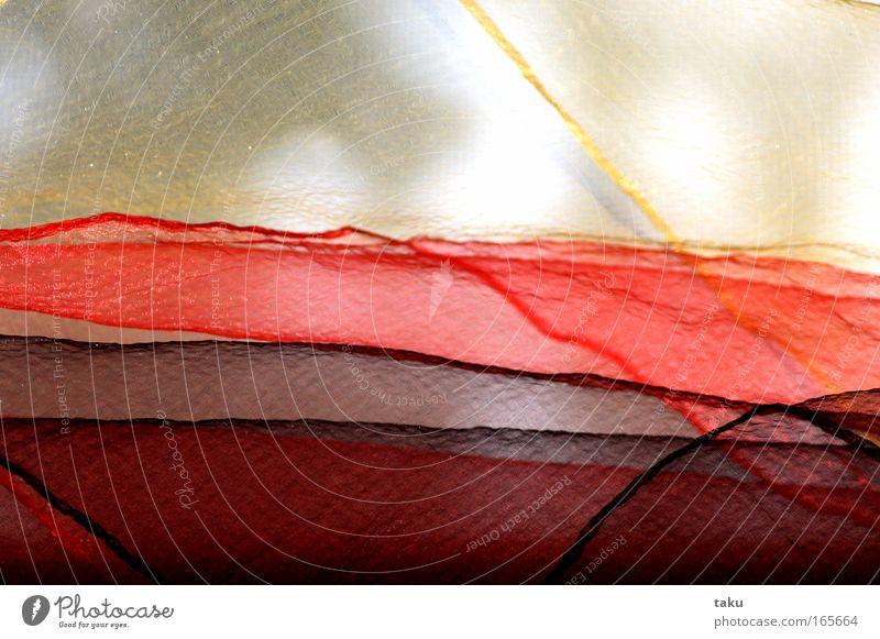 TÜCHER Sonne rot schwarz gelb Fenster Stoff orange Wind zart Falte durchsichtig fein Tuch