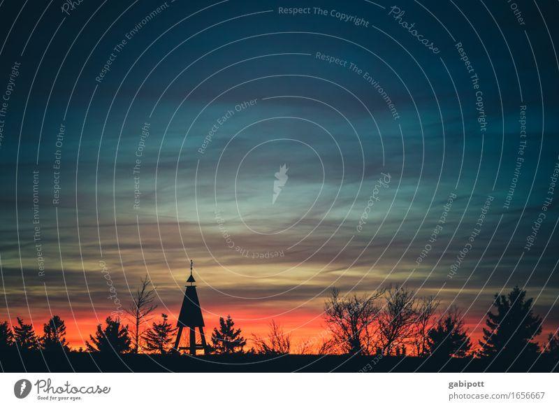 blaumachen | der Tag geht... Sinnesorgane Erholung ruhig Meditation Ausflug Natur Landschaft Himmel Nachthimmel Sonnenaufgang Sonnenuntergang Sonnenlicht