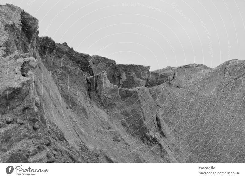 Klippen Sand Landschaft Umwelt Erde ästhetisch Riff Wolkenloser Himmel Kieswerk