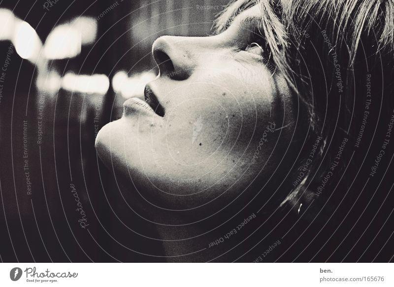 I Could Be A Star Now Mensch Frau Jugendliche schön Gesicht Erwachsene Auge feminin Gefühle Wärme Kopf Glück träumen Kunst Kraft glänzend