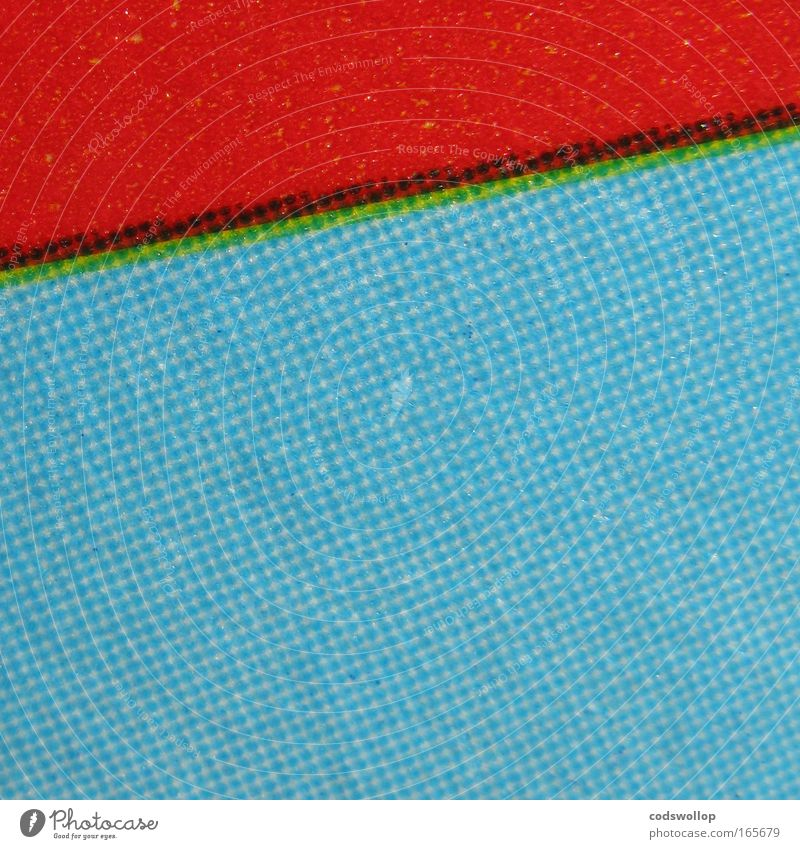spreading and choking Druckmaschine Kunst Printmedien blau gelb grün rot schwarz Farbe Überfüllen Raster Farbfoto Detailaufnahme Makroaufnahme Totale
