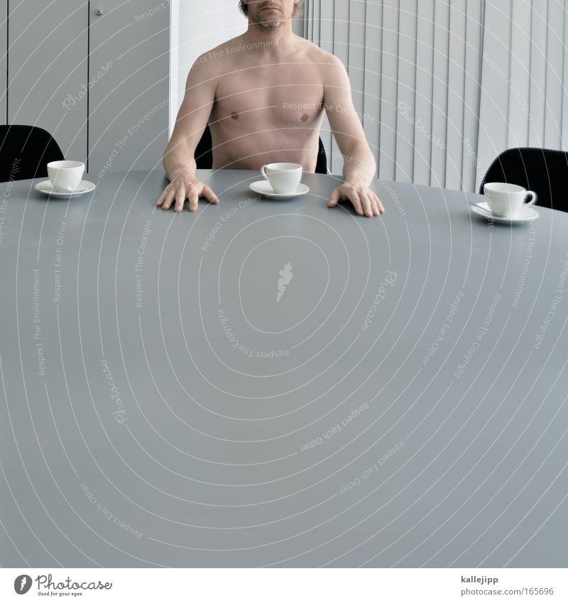 businessfrühstück Oberkörper Geschäftsessen Kaffee Tee Geschirr Teller Tasse Becher Löffel Bildung Berufsausbildung Arbeit & Erwerbstätigkeit Büroarbeit
