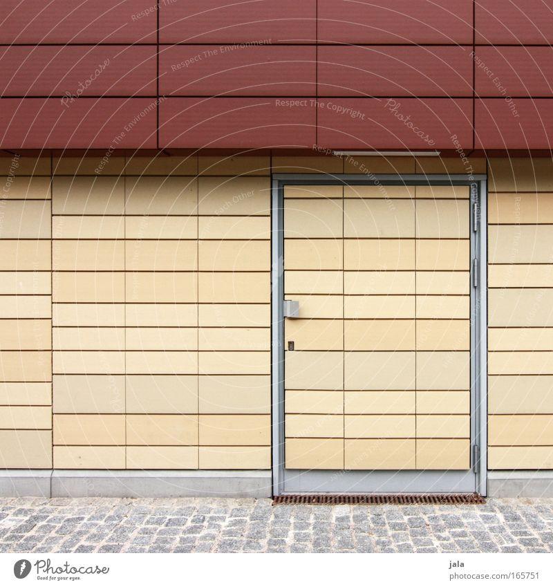 versteckspiel rot Wand Architektur Gebäude Stein Mauer Tür Fassade Sauberkeit Fliesen u. Kacheln Pflastersteine beige