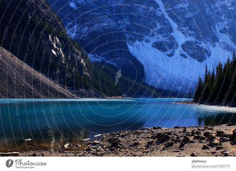 irgendwo im nirgendwo Nordamerika Neufundland Natur See Wasser Urelemente Berge u. Gebirge Schnee Gletscher Kanada Seeufer Reflexion & Spiegelung ruhig