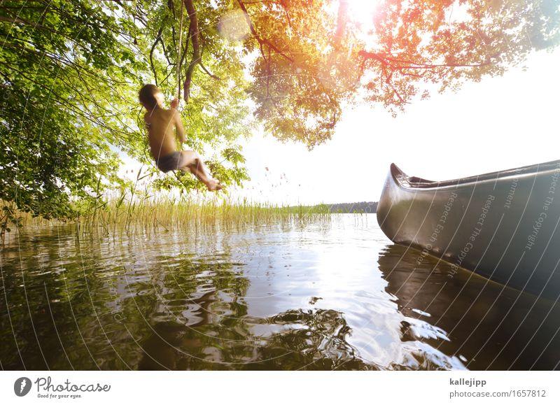 mogli Glück Spielen Ferien & Urlaub & Reisen Tourismus Ausflug Abenteuer Freiheit Sommer Sommerurlaub Sonne Mensch Kind Junge Körper Haut 1 Ruderboot