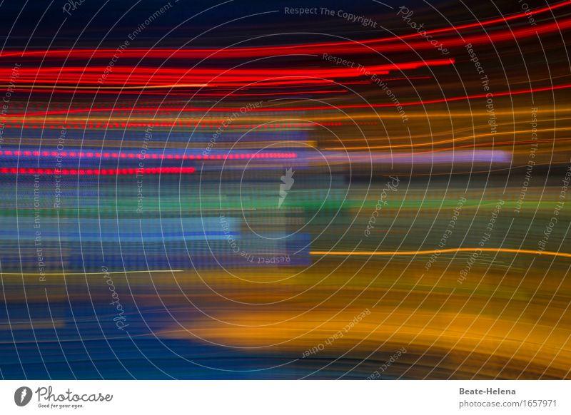 Speedy Stadt blau rot schwarz Umwelt Straße gelb Bewegung Verkehr fantastisch Geschwindigkeit Unendlichkeit Eile Hauptstadt exotisch Verkehrswege