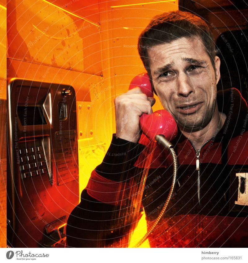 waschlappen Mensch Mann Einsamkeit Erwachsene Gefühle Kopf Traurigkeit Stimmung maskulin Telefon Hoffnung Trauer Telekommunikation 18-30 Jahre Sehnsucht