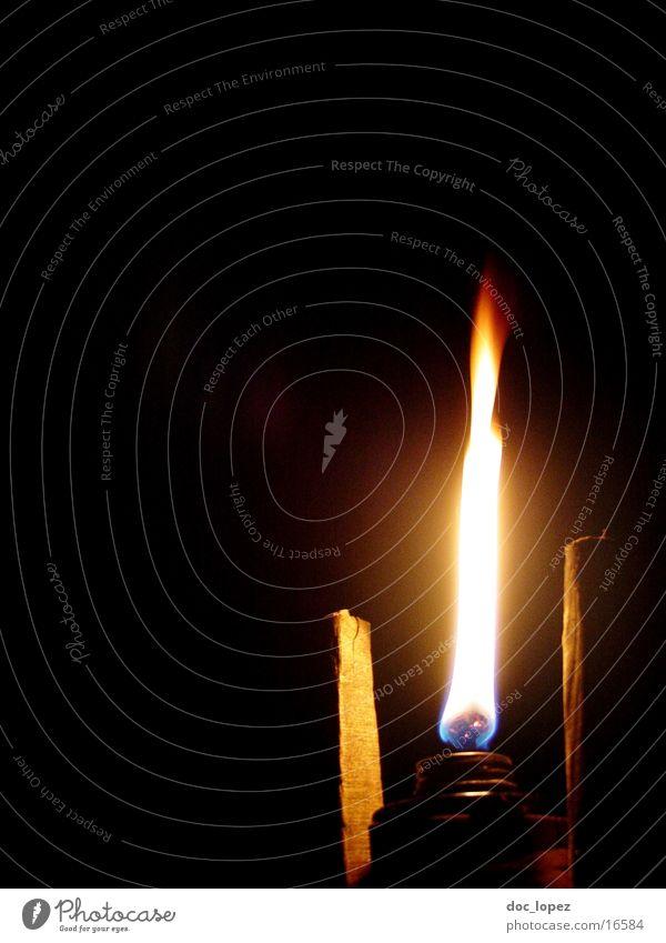 Irenlicht_1 dunkel Garten hell Stimmung Brand Romantik Freizeit & Hobby Dinge Camping brennen Flamme erleuchten untergehen Fackel Irrlicht