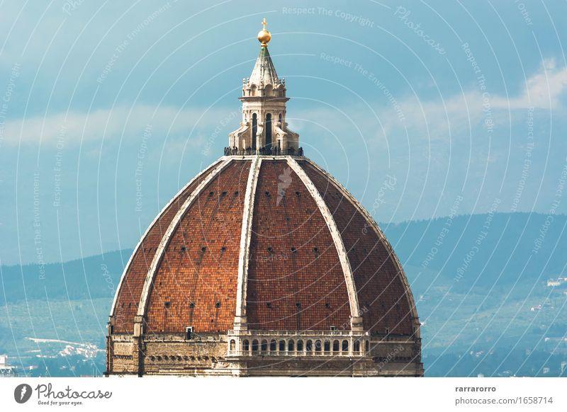Brunelleschi-Haube in Florenz Design schön Ferien & Urlaub & Reisen Tourismus Kunst Himmel Stadt Kirche Platz Gebäude Architektur Denkmal alt historisch blau