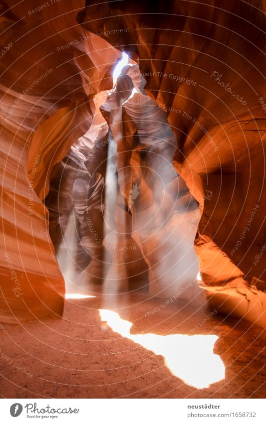 Antelope Canyon II Natur Erde Sand Sonnenlicht Schlucht Wüste Stein außergewöhnlich trocken braun gelb orange Reinheit Abenteuer einzigartig Idylle rein Umwelt