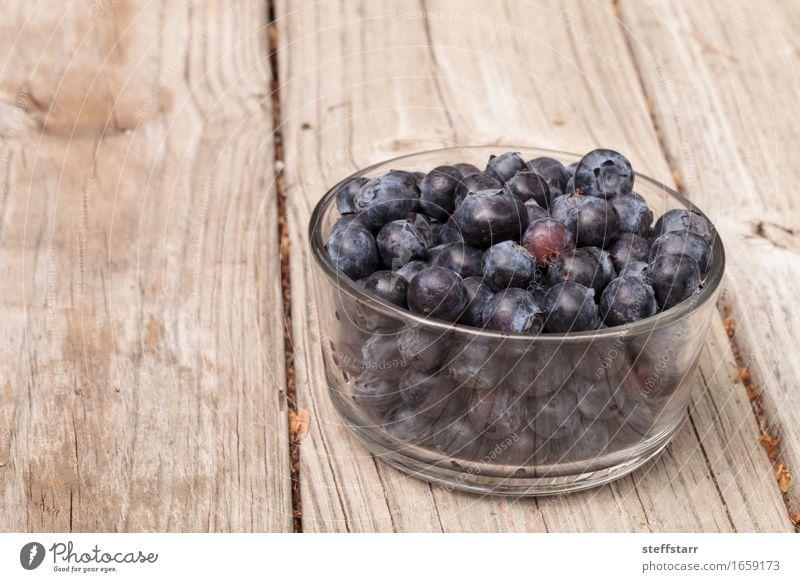Klarglasschüssel reife Blaubeeren blau Pflanze schön rot Leben Essen Gesundheit Lebensmittel Gesundheitswesen Frucht Ernährung Wellness Bioprodukte Frühstück
