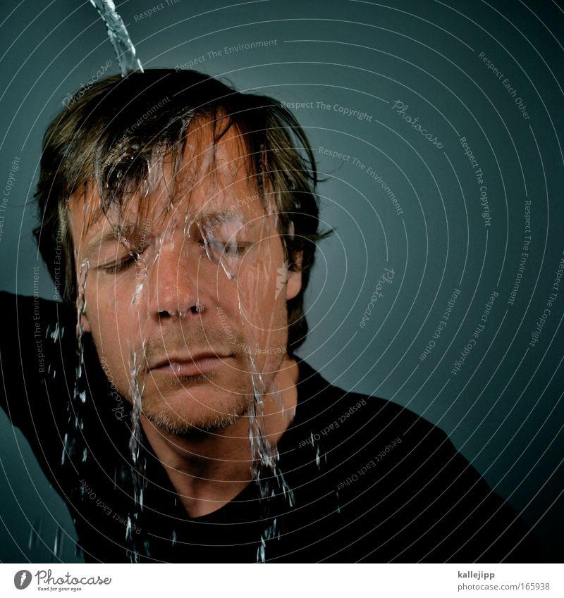 weichmacher Kunstlicht Porträt Körperpflege Mensch Haut Kopf Haare & Frisuren Gesicht Nase Mund Lippen 1 30-45 Jahre Erwachsene Wachstum Sauberkeit blau Wasser