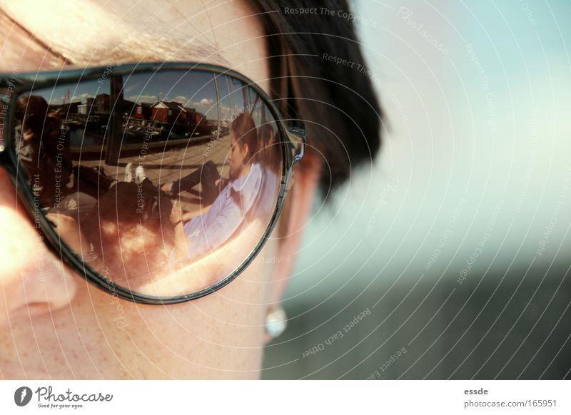 spejl, spejl Mensch Frau Himmel Jugendliche Wasser Ferien & Urlaub & Reisen Sommer Wolken Gesicht Erwachsene Erholung Umwelt Leben feminin Kopf Haare & Frisuren