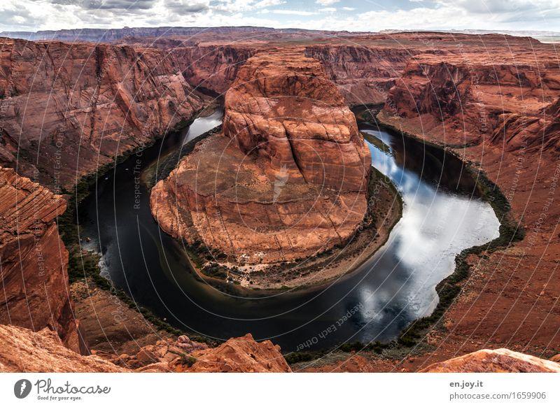 Wasser schlägt Stein Natur Ferien & Urlaub & Reisen Landschaft Umwelt außergewöhnlich braun Felsen Horizont orange Klima Abenteuer rund Fluss USA Wüste Amerika