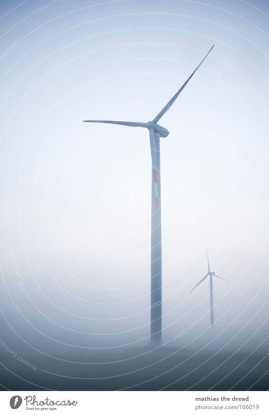 WINDKRAFT Natur schön Himmel blau ruhig Wiese grau Regen Landschaft Luft Feld Architektur Nebel Umwelt Industrie Energiewirtschaft